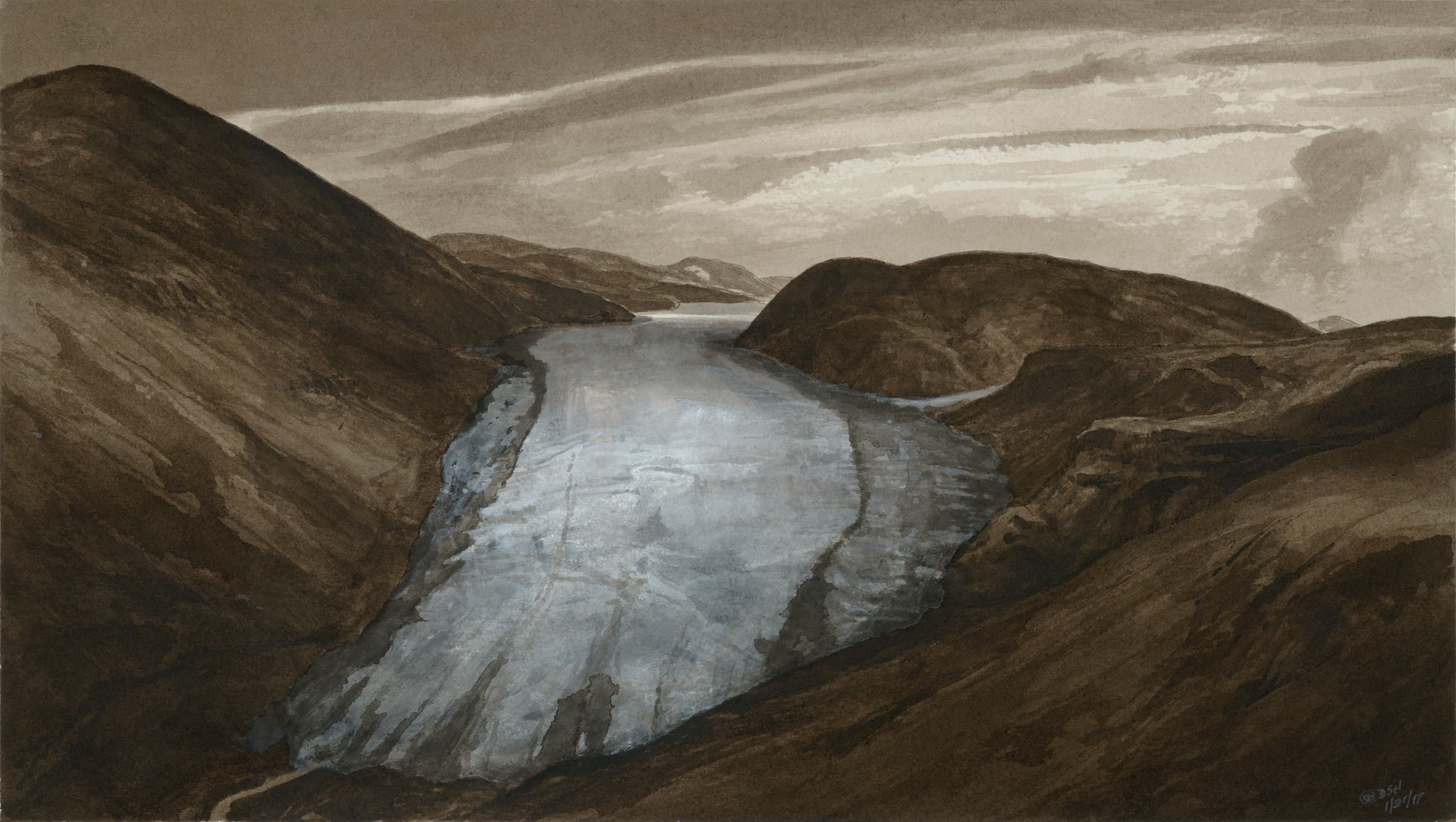 Receding Glacier within the Black Canyon of the Yellowstone Artwork by Douglas Henderson