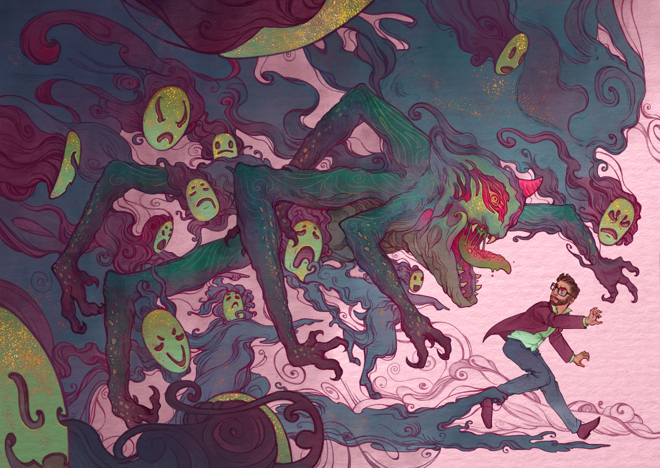 Demons Artwork by Michelle Lockamy