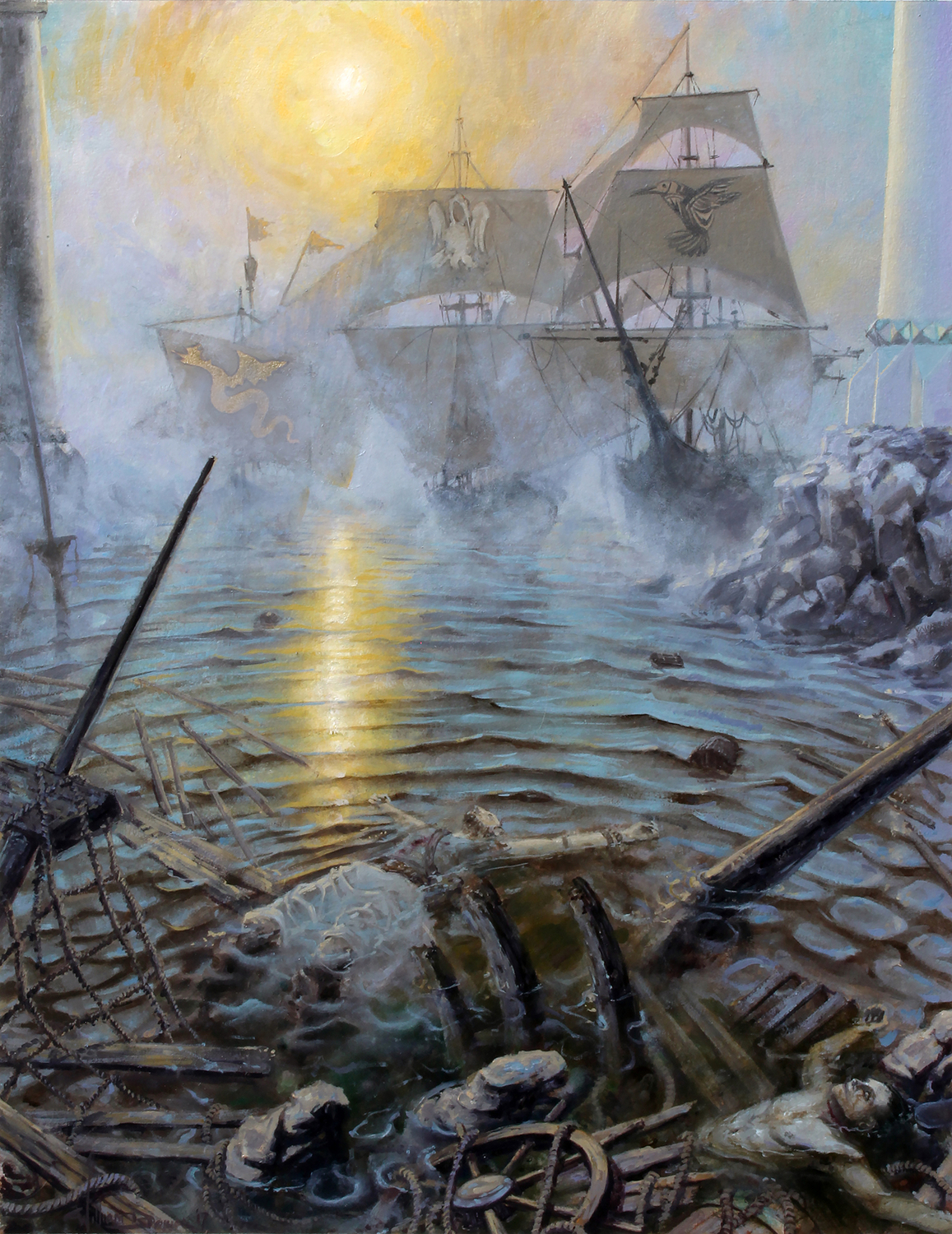 The City Walls  Artwork by William Brown