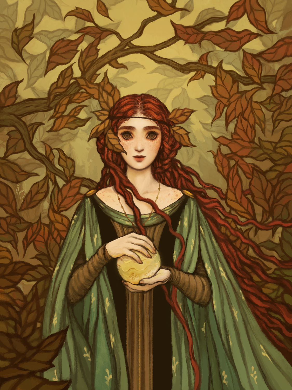 Conto de Fadas no Outono Artwork by Janaina Medeiros