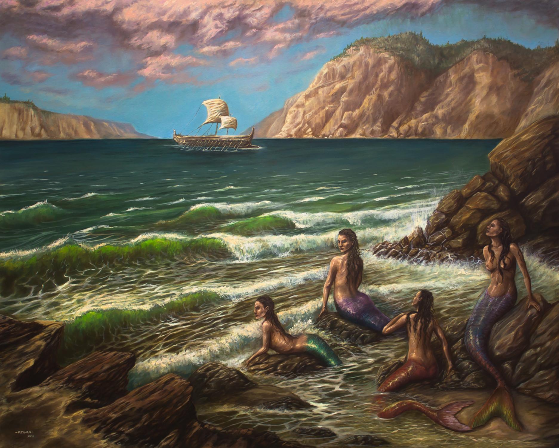 Mermaids Artwork by Mario  Fegan