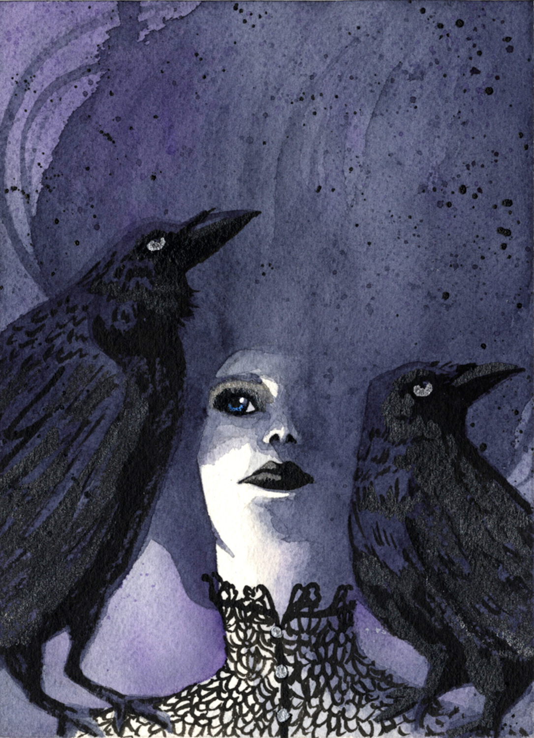 A Conspiracy of Ravens Artwork by Melisa Des Rosiers