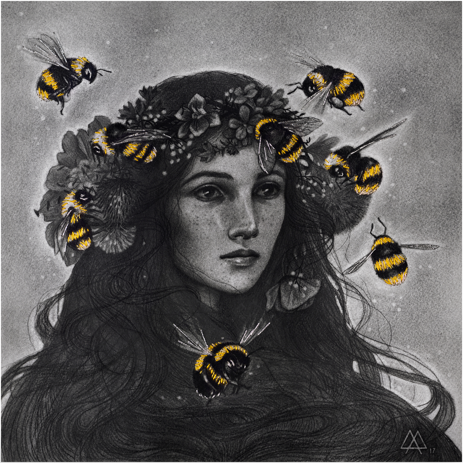 Bumblebees Artwork by Adeline Martin