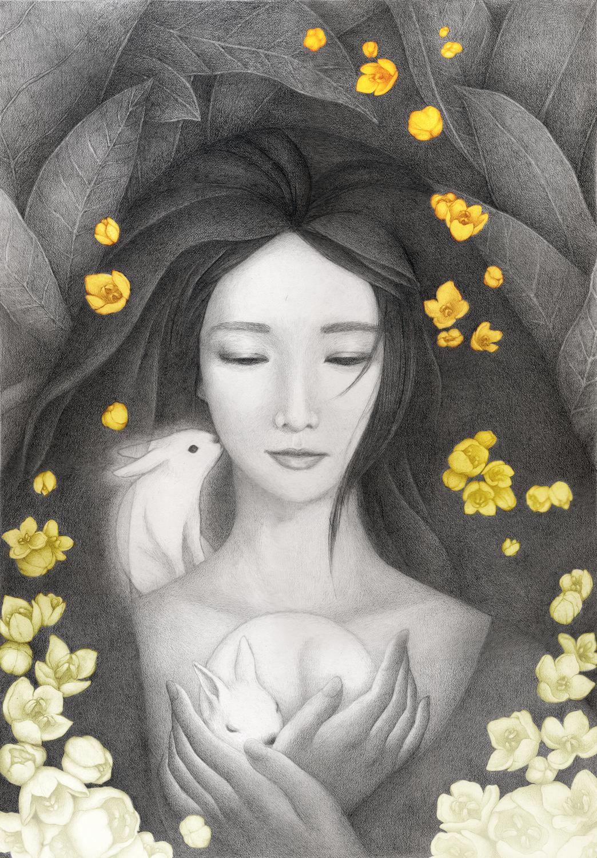 Moon Rabbit Artwork by Christine Rhee