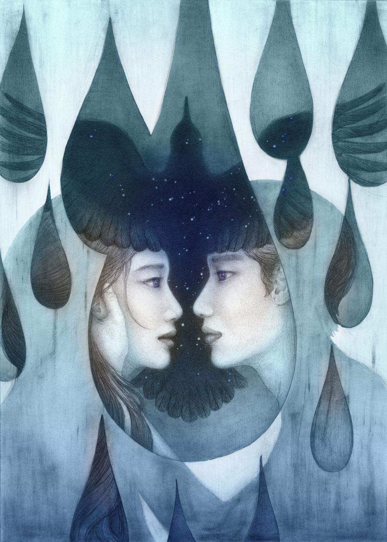 Longing (Across the Milky Way) Artwork by Christine Rhee