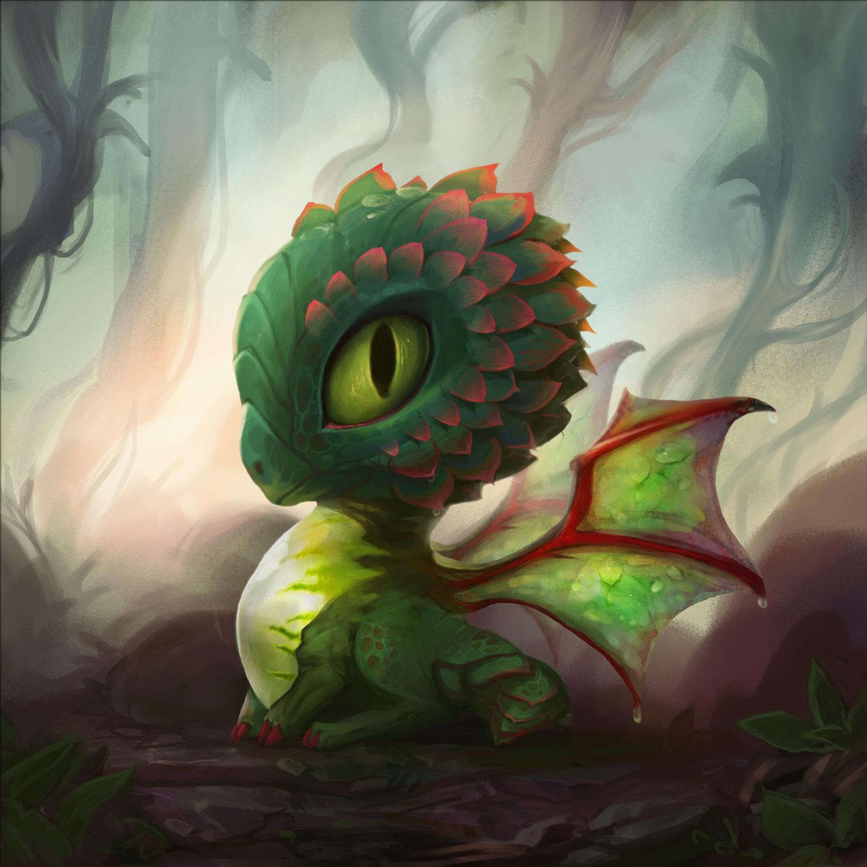 Succulent Dragon Artwork by Johanna Rupprecht