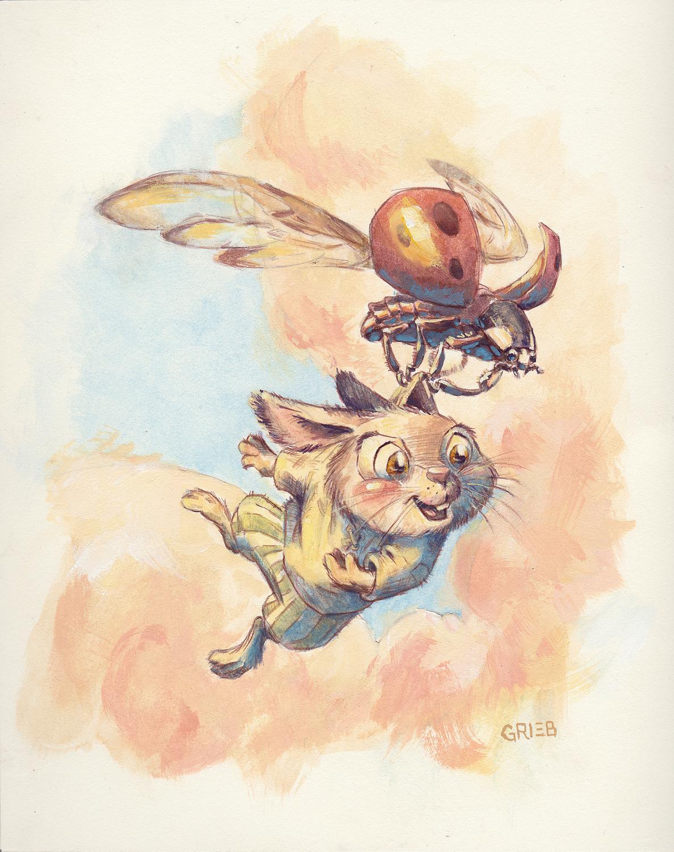 Taking Flight Artwork by Chuck Grieb