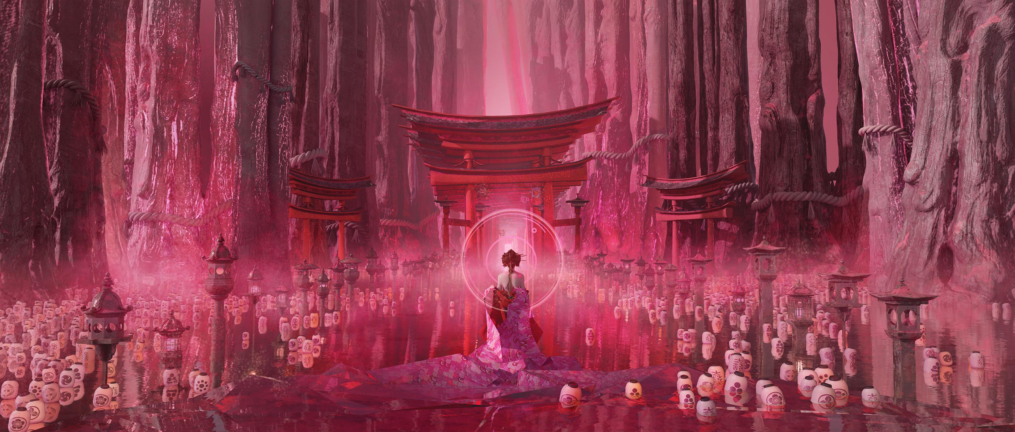 sacrifice for the great Torii Artwork by TE HU