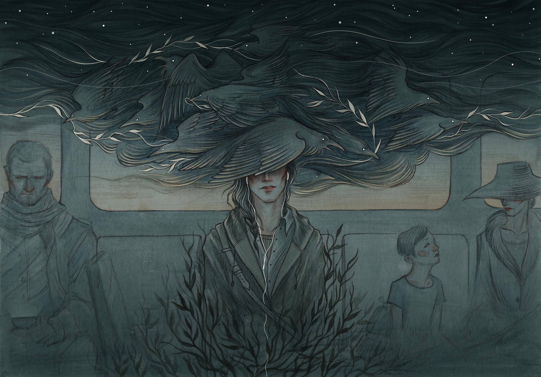 Threading Thunder Artwork by Natasa Ilincic