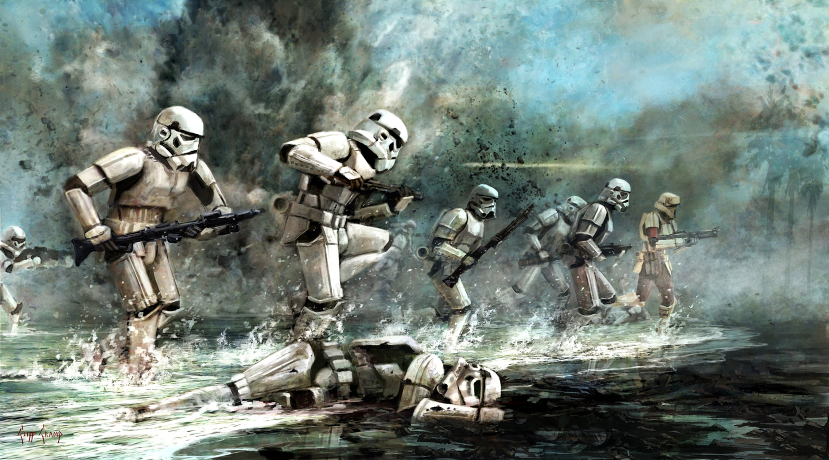 Storming Troopers Artwork by Cliff Cramp