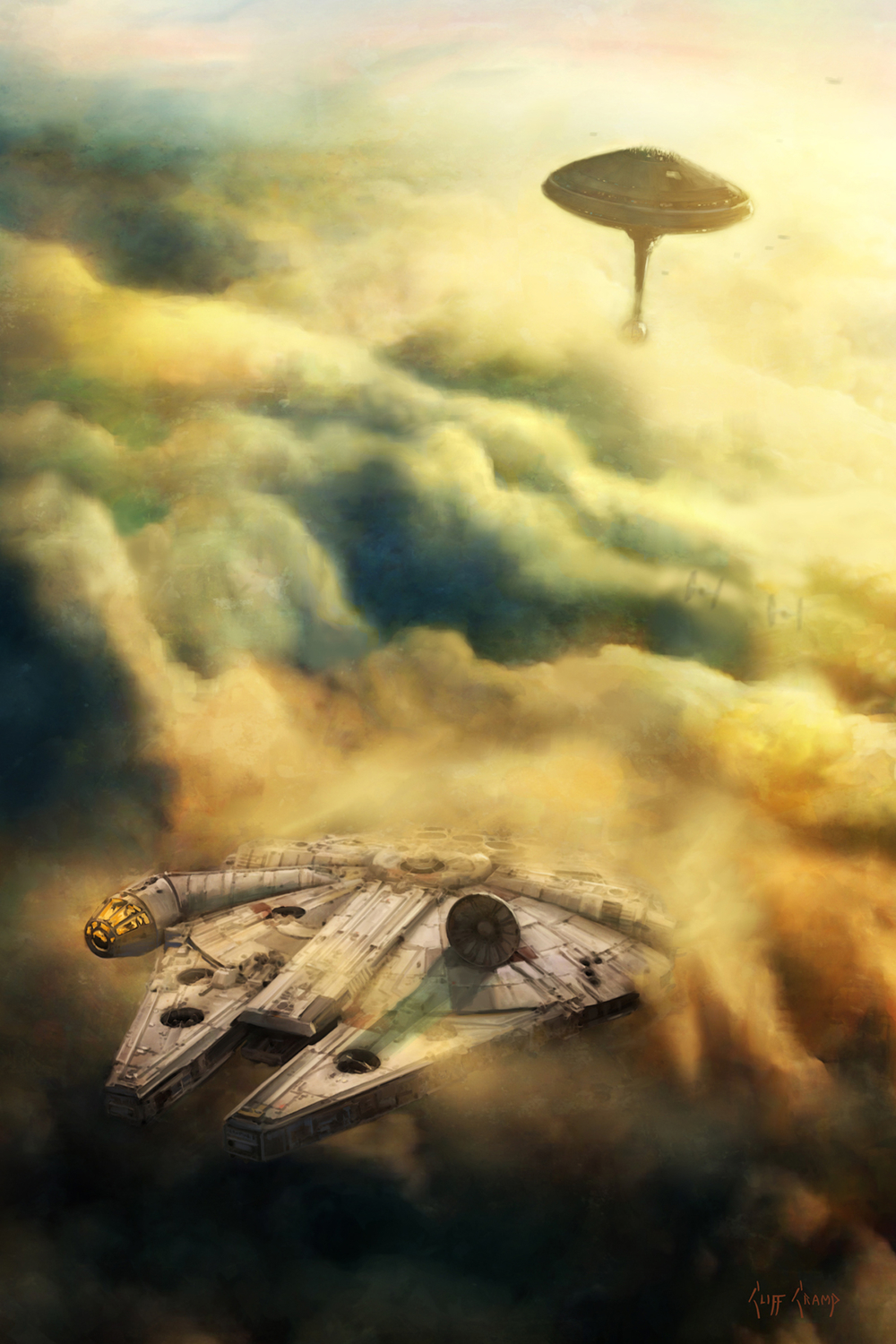 Leaving Bespin Artwork by Cliff Cramp