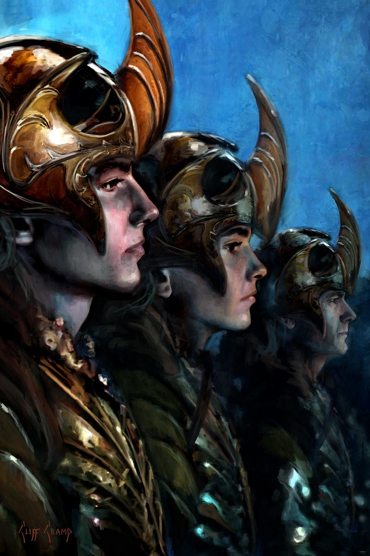 Lothlorien Elves Artwork by Cliff Cramp