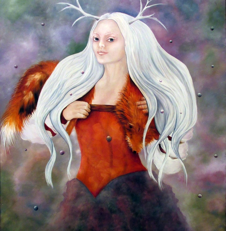 She IV Artwork by Debra Knealing