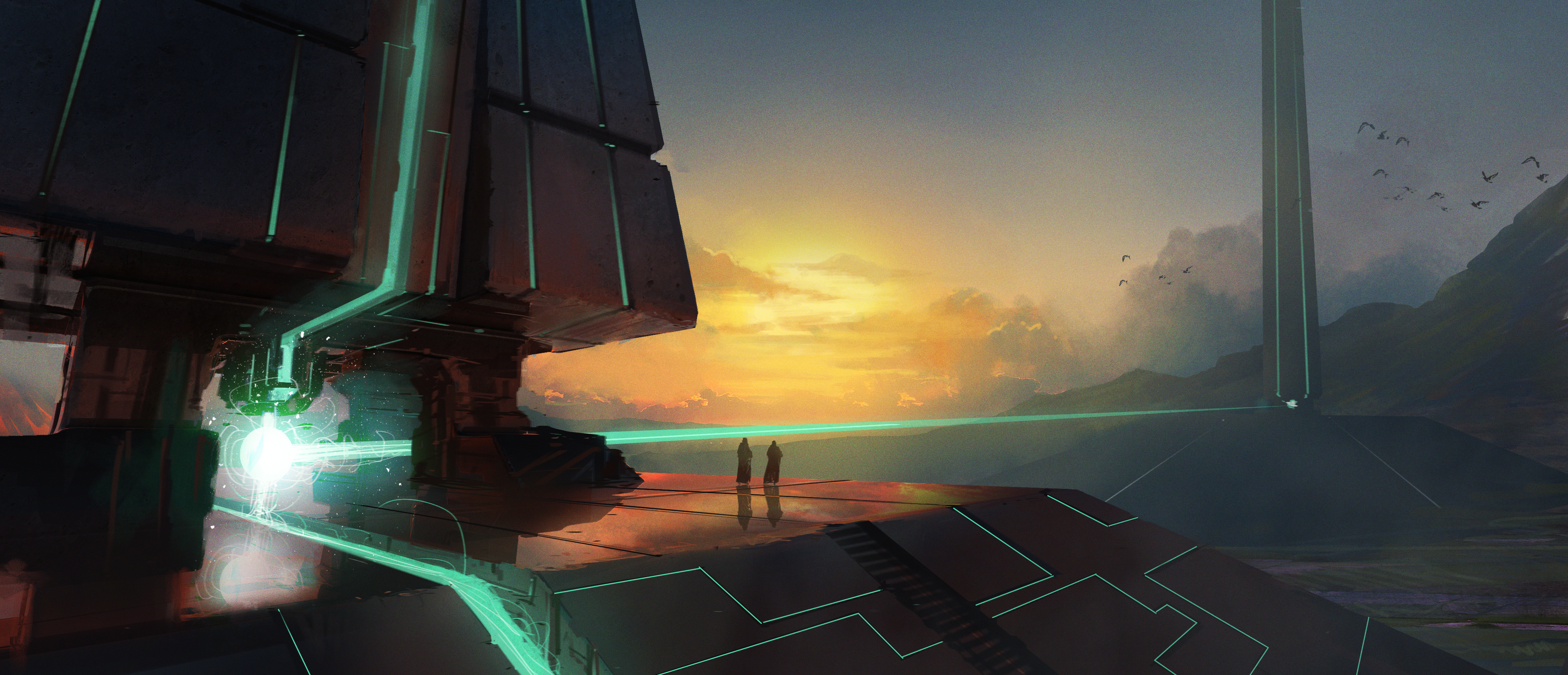 The Obelisks of Malin Artwork by Duncan  Halleck