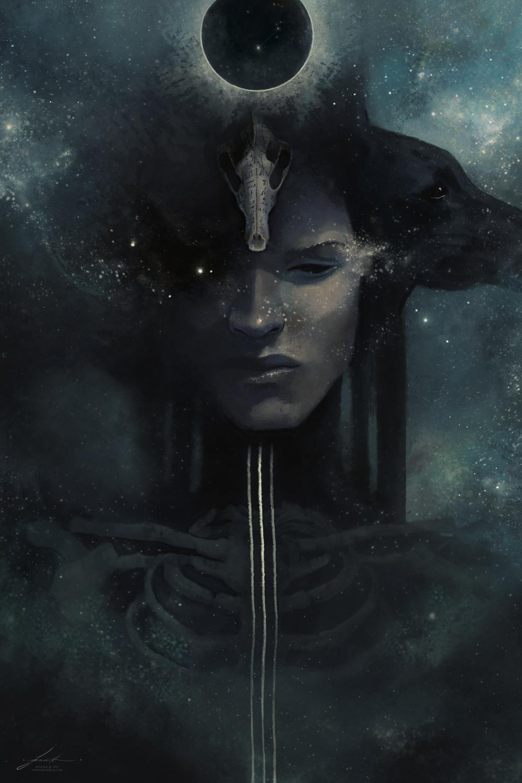 Anubis - Discerning Gaze Artwork by Jeszika Le Vye
