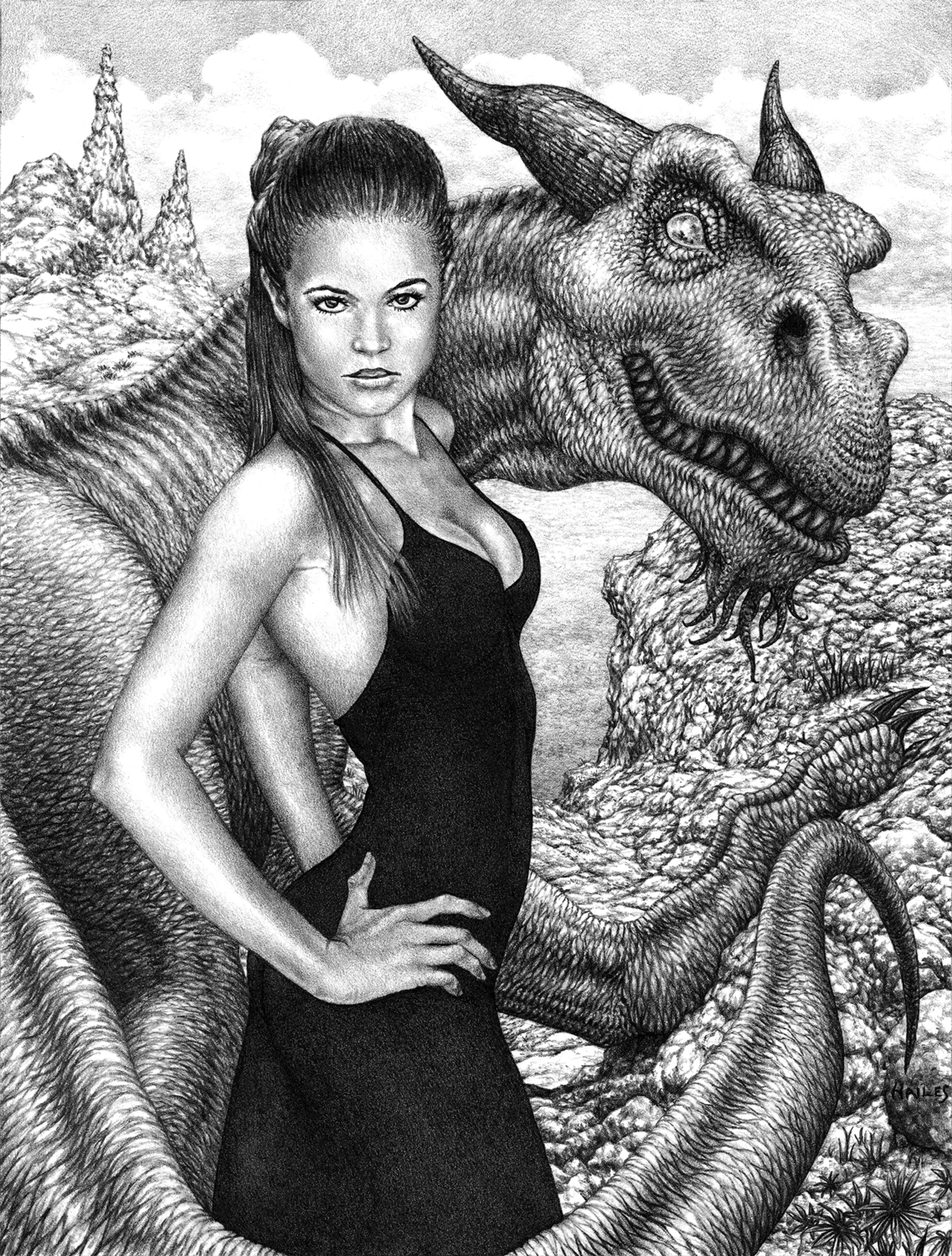The Dragon's Temptress Artwork by Brian C. Hailes