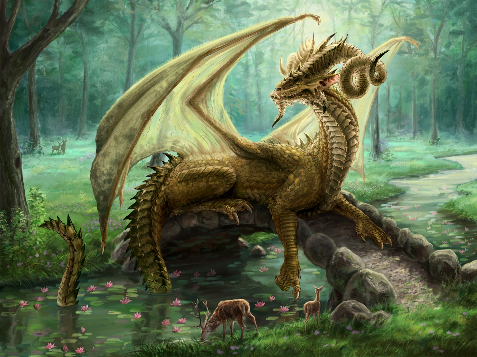 Forest King Artwork by Elissa  Weaver