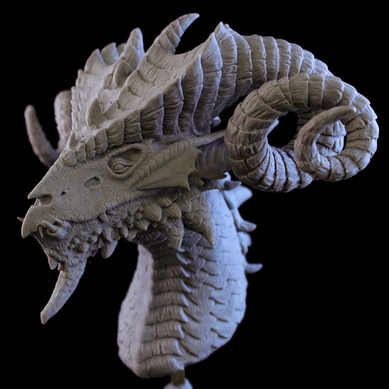 Dragon Bust Artwork by Elissa  Weaver