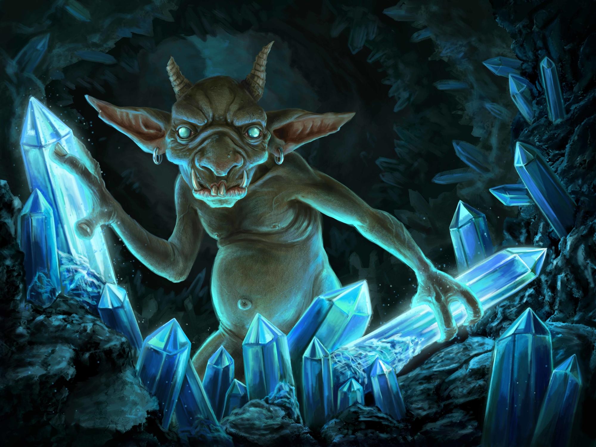 Cave Goblin Artwork by Elissa  Weaver
