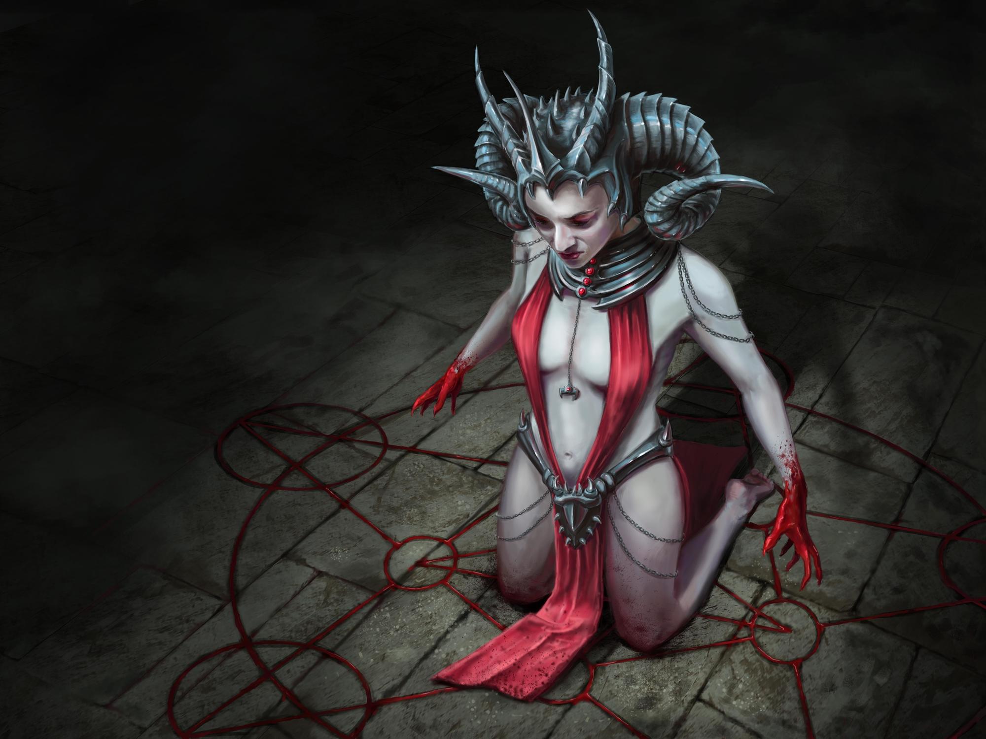 Dark Ritual Artwork by Elissa  Weaver