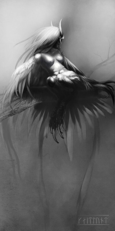 The Harpy Artwork by Kaitlund Zupanic