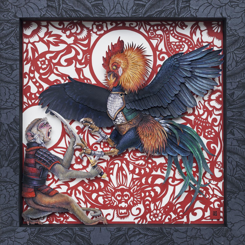 Zodiac Battle Artwork by Nicole Grosjean