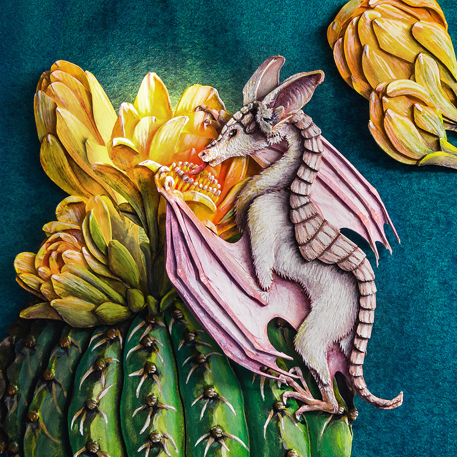 Cactus Dragon Artwork by Nicole Grosjean