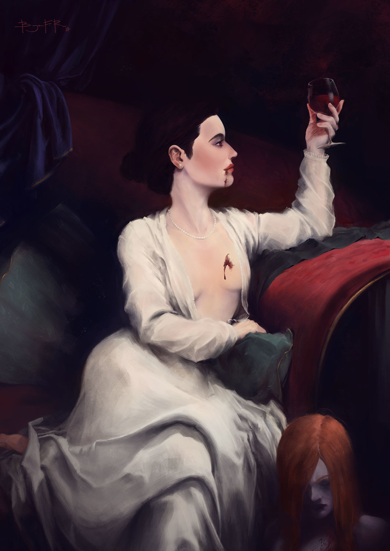 Elizabeth Bathory, the blood countess Artwork by Bryan Fogaça Rosado