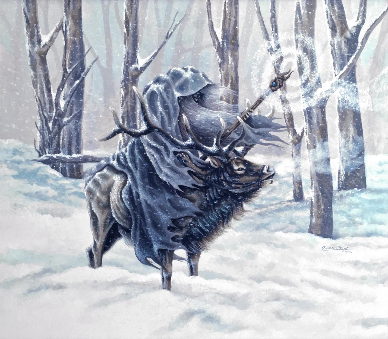 Blue Wizard Artwork by Rebecca Magar