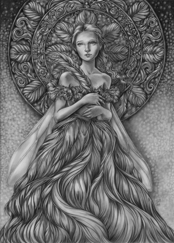 Queen Of Feathers Artwork by Eeva Nikunen