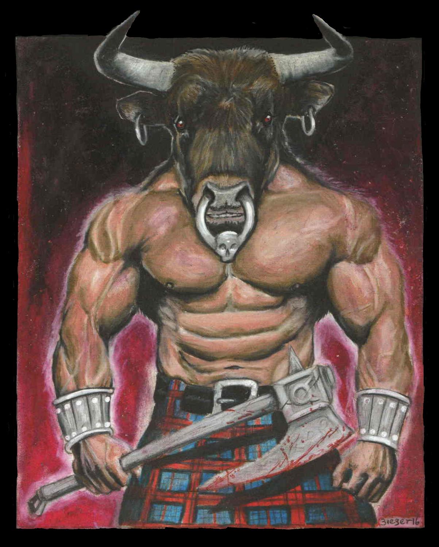 the Strength of the Minotaur Artwork by Bob Bieber