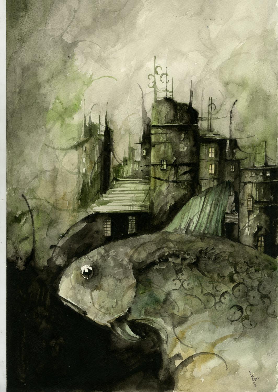 From the Cold, Dark Sea Artwork by Dani Serra