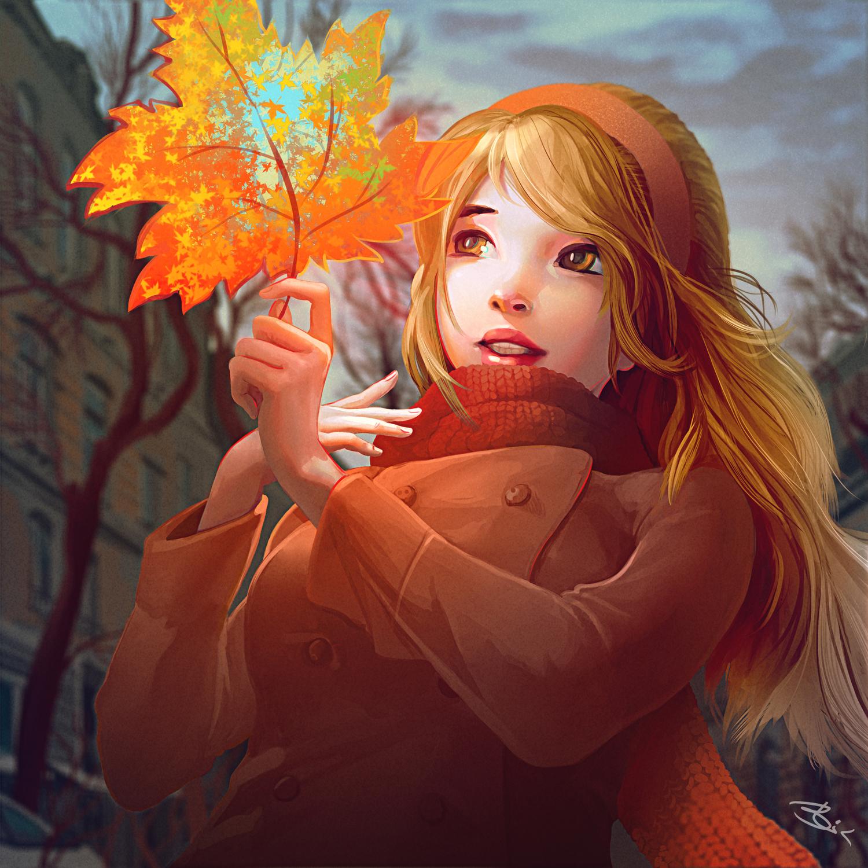 goodbye to this autumn Artwork by Igor Lomov