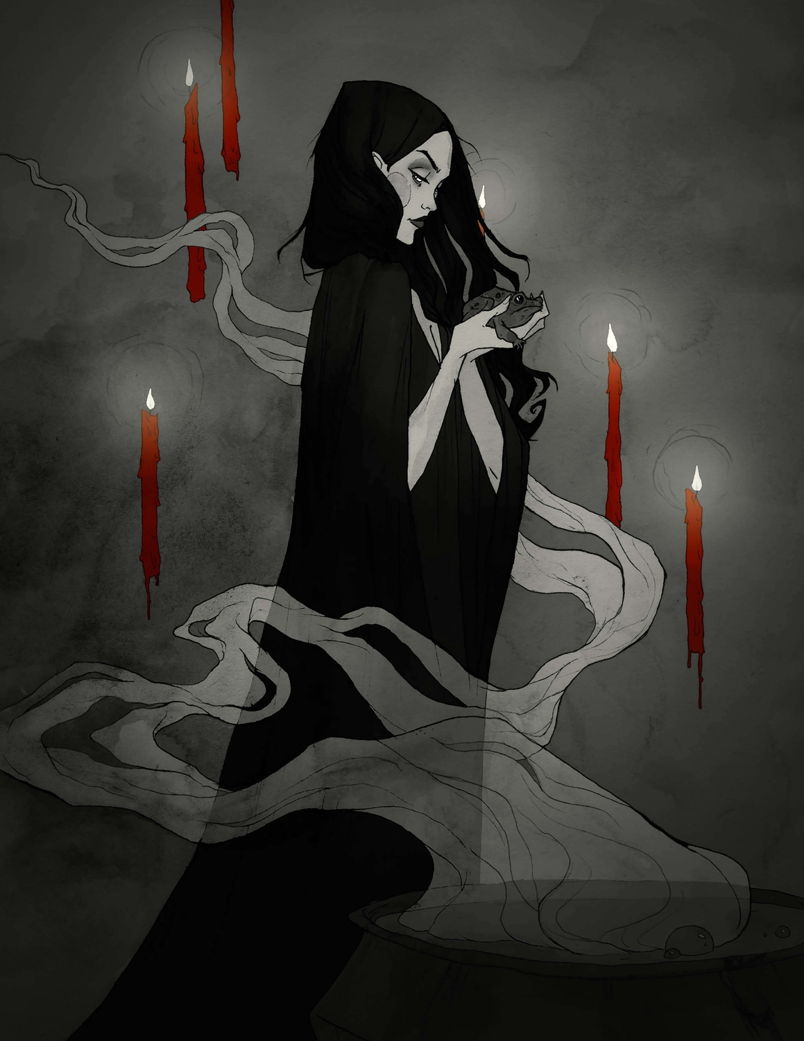 Toil and Trouble Artwork by Abigail Larson