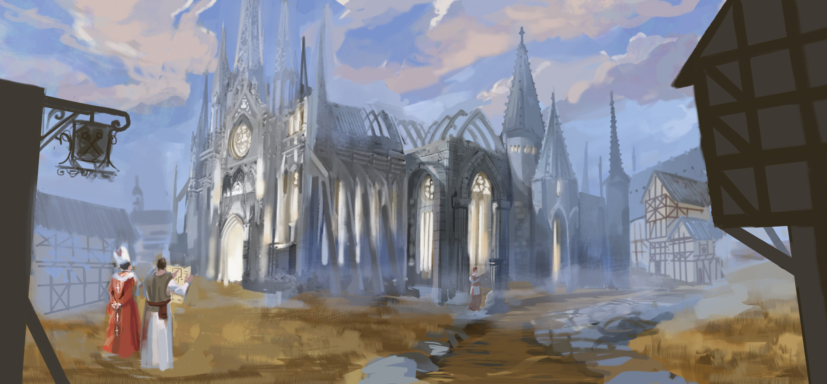 Building a Cathedral Artwork by Leah McKay