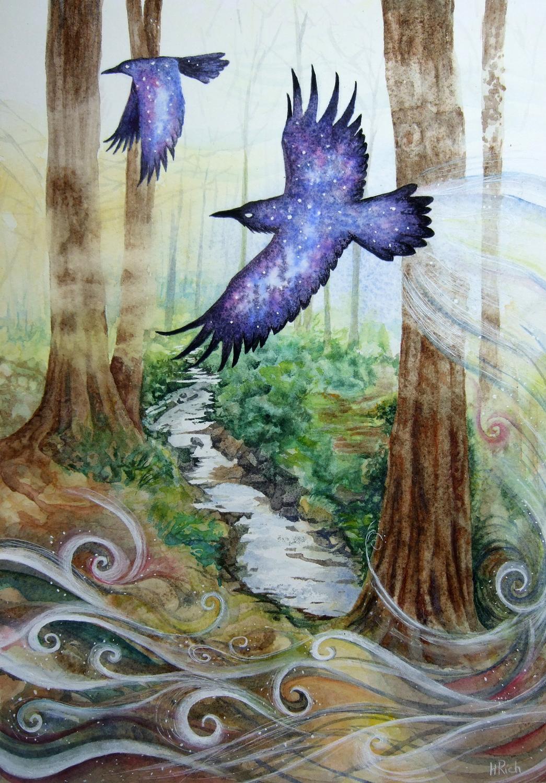 The Raven Portal Artwork by Helen Frost Rich
