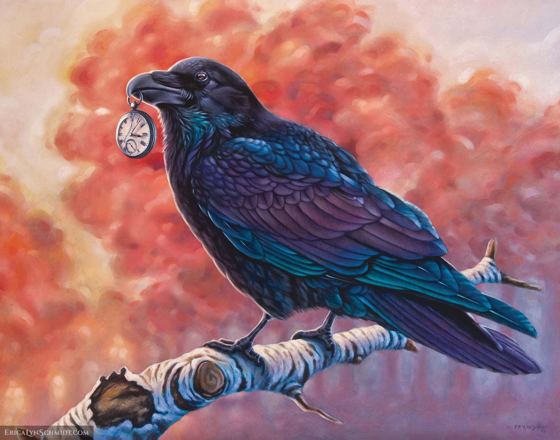 Harbinger in Red Morning Artwork by Erica Lyn Schmidt