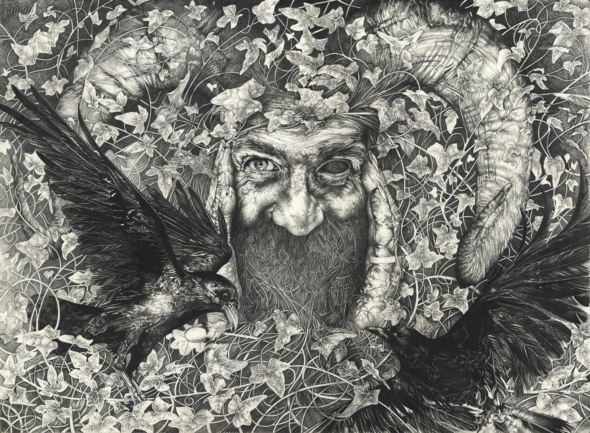 Odin Artwork by Bonnie Helen Hawkins