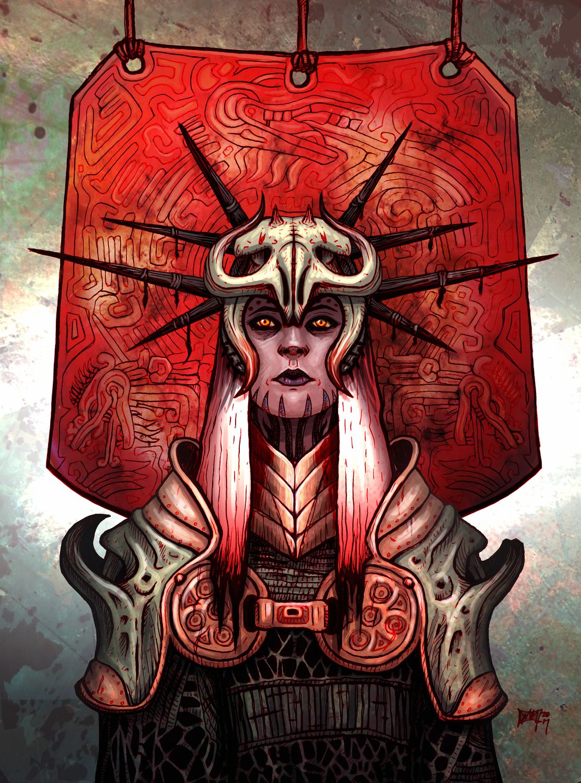 Dragon Priestess Artwork by David M. Mallon