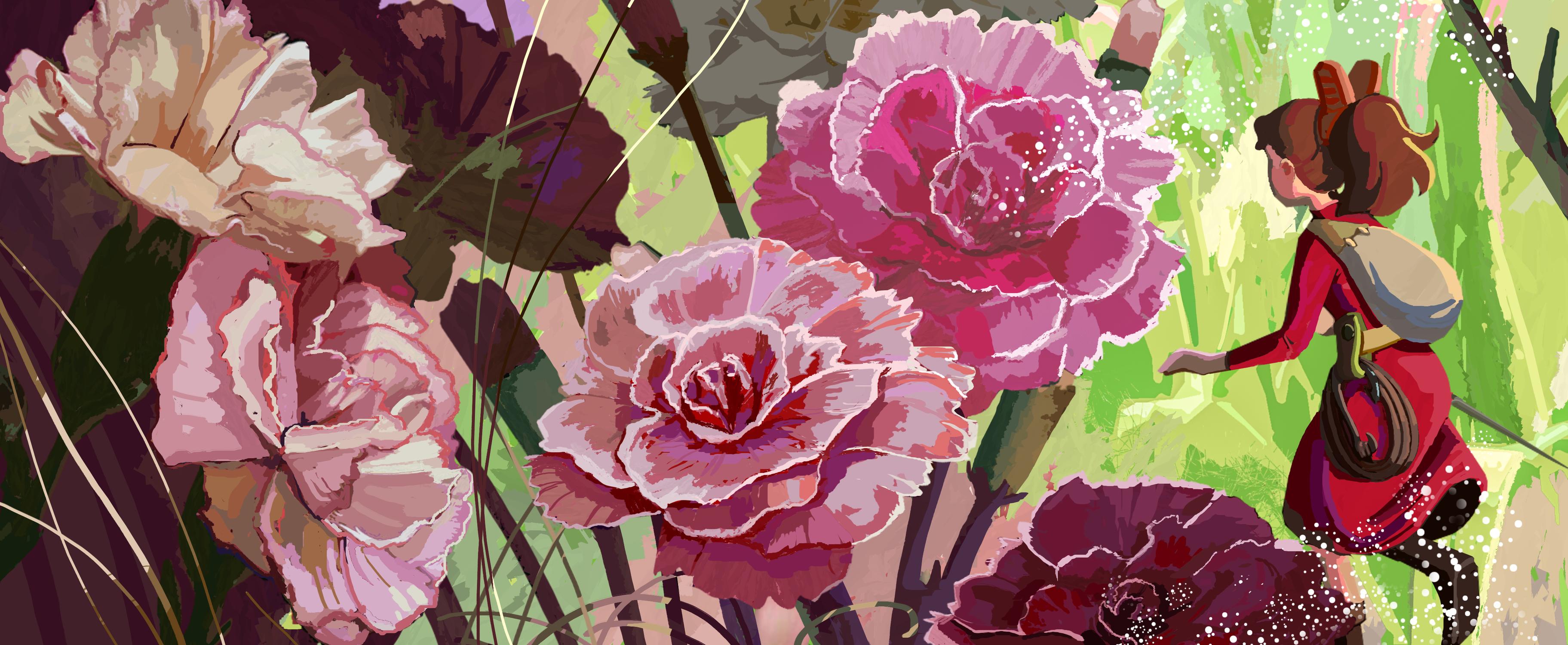 Flower Field Artwork by Qianjiao Ma