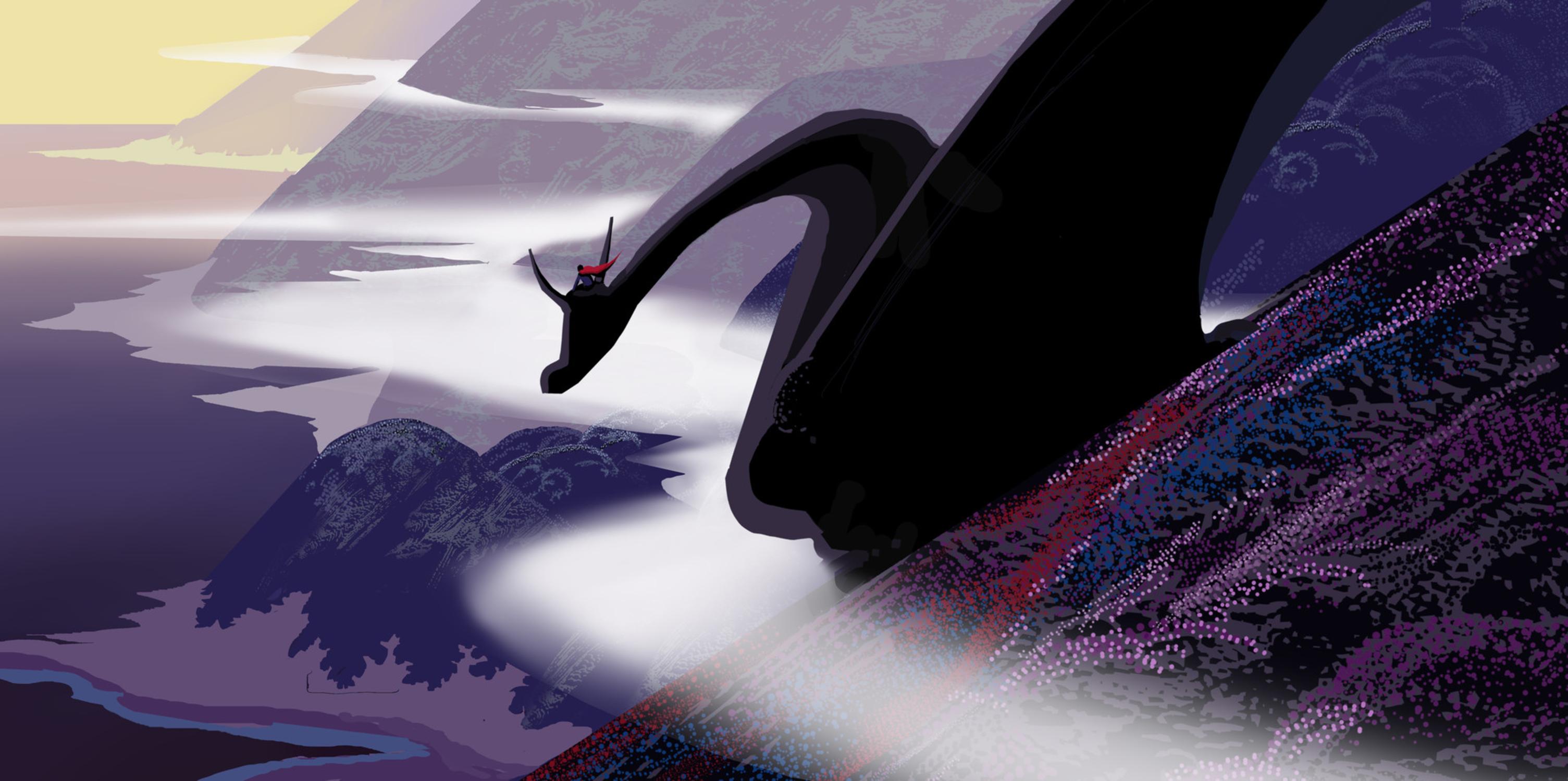 Dragon Raider Artwork by Qianjiao Ma