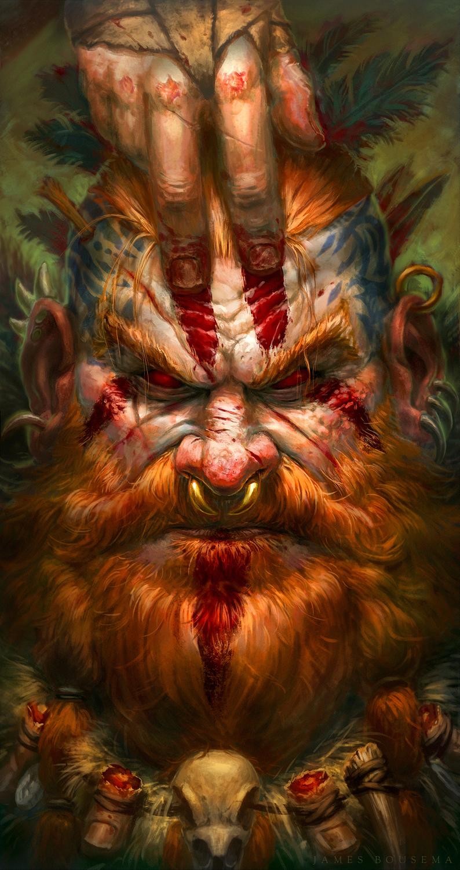 Blood Barbarian Artwork by James Bousema