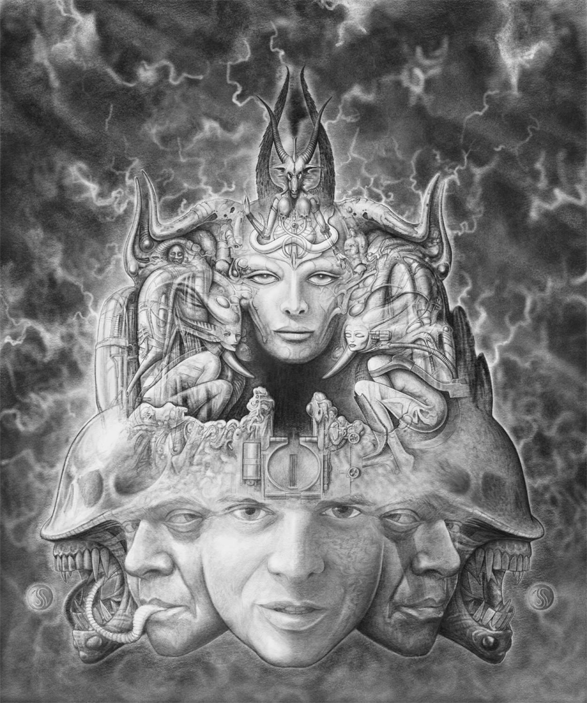 Portrait of H.R. Giger Artwork by Joshua Levin
