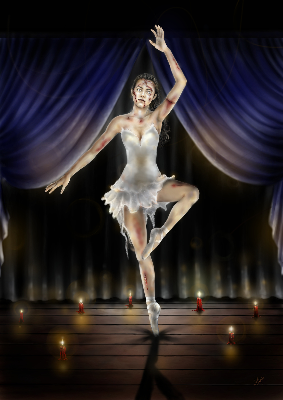 Ballerina Artwork by Jasmine Krönke