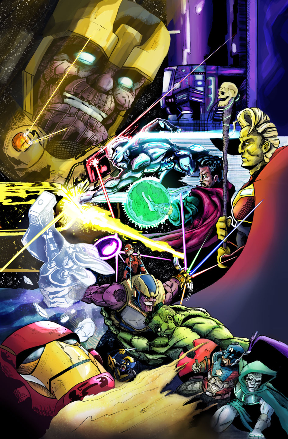 Marvel's The Infinity Gauntlet  Artwork by Drew Norman