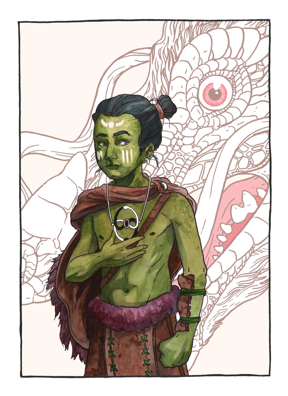 Atreyu the Warrior Artwork by Justin DeVine