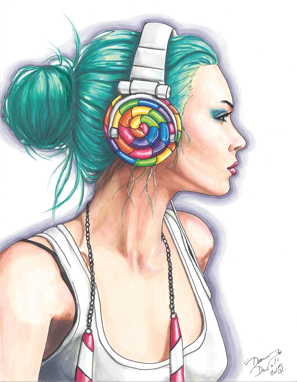 Candy Rocker Artwork by Deanna Davoli