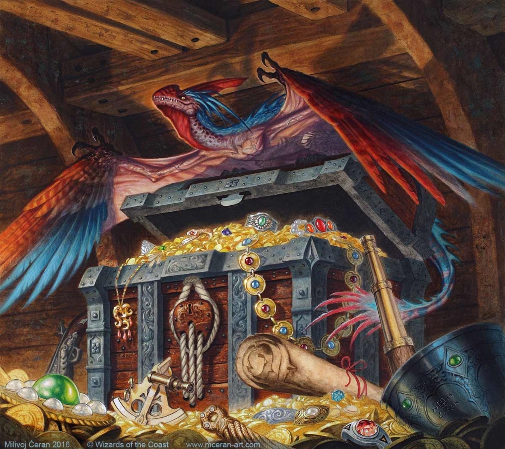 Treasure Token Artwork by Milivoj Ceran