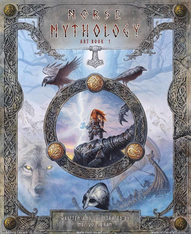 Norse Mythology art book cover Artwork by Milivoj Ceran