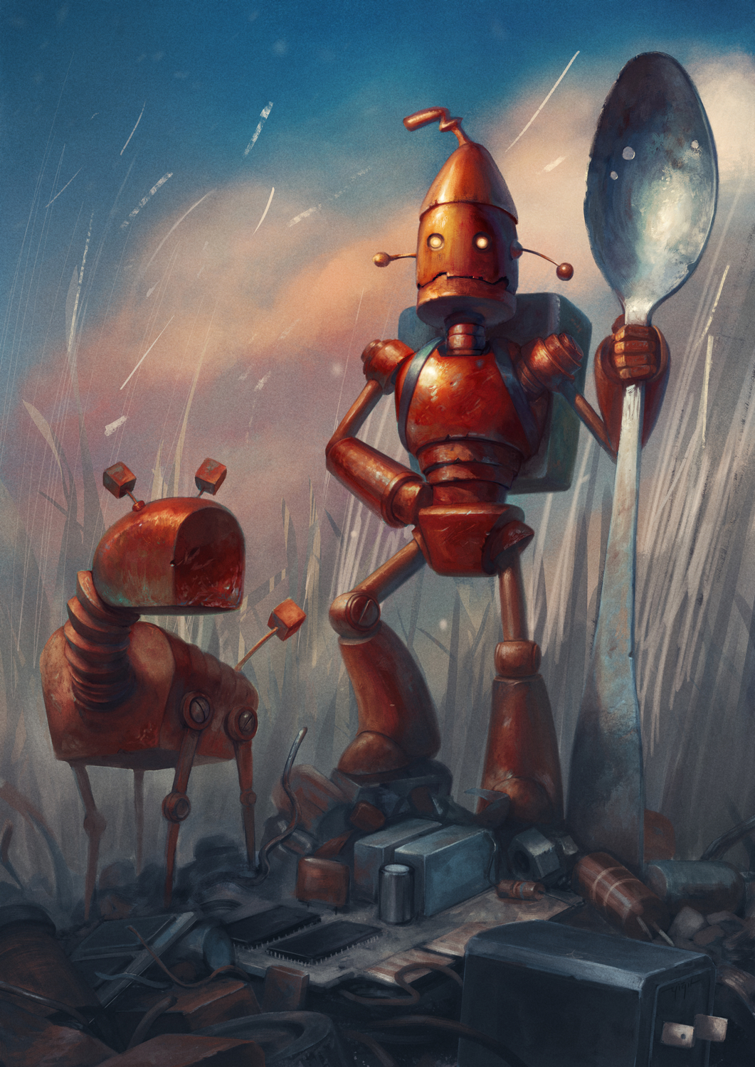 Extraordinary Adventures of Robbie and Boxie Artwork by yigit koroglu